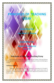 an essay for principles of effective teaching principles of teaching essay submitted by joy anne s sueno submitted to agnes