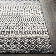 black white area rug distressed geometric black white area rug black and white area rugs ikea