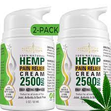 Hemp Cream Pain Relief by New Age - 2 Pack - Natural Hemp Extract Cream for  Arthritis, Back