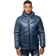 Mens Designer Padded Jacket Kangol Mens Designer Puffer Jacket Zip Up Hooded Quilted Bubble Winter Coat