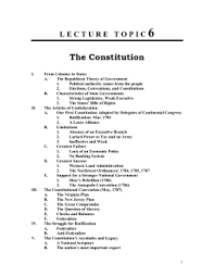 thematic essay ratification of constitution doc outline 6 the constitution