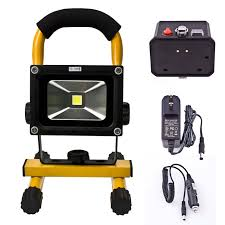 10 Watt Rechargeable Led Work Light Loftek 10 Watts Cordless Ultra Compact Portable Outdoor Led