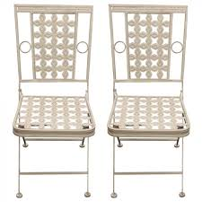 Woodside <b>2</b> x Square Metal <b>Garden Chairs</b> | Woodside Products