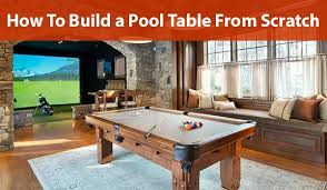 how to build a pool table from scratch