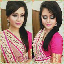 for indian wedding parties lovely simple hairstyle rhootravelus shocking makeup vibrant enement look plete hair pics