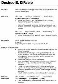 Sample Teaching Resume