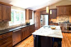 cherry cabinets with granite countertops