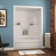 1 piece shower tub. 60\ 1 piece shower tub