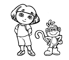 Dora The Explorer Coloring Pages And