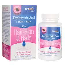 hyalogichyaluronic acid biotin silica for hair skin nail