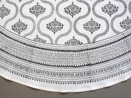 filigree black white vintage hollywood glamour round tablecloth any image for expanded view