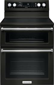 kitchenaid electric stove cu ft self cleaning freestanding double oven electric convection range kitchenaid electric stove
