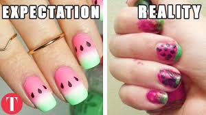 10 Nail Art Fails That Should Have NEVER Left The House - YouTube