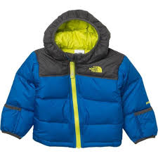 the north face nuptse down jacket infant boys winter coat hoo 0 3 months blue for