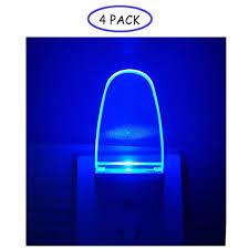 Blue Plug In Night Light 4 Pack Night Light Lamp With Dusk To Dawn Sensor Plug In