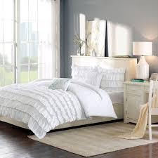white ruffle bedding twin xl