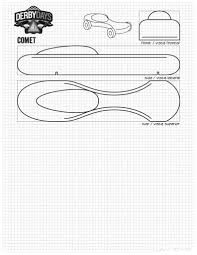 Pinewood Derby Car Stencils 39 Awesome Designs Templates