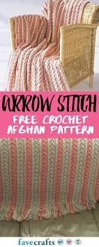 Free Crochet Afghan Patterns Mesmerizing Arrow Stitch Crochet Afghan Crocheted Pinterest Free Crochet
