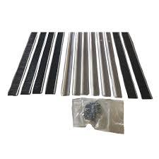 action industries garage door brush weather seal with aluminum retainer with 1 in brush
