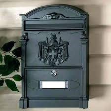 Column Mount Mailbox Locking Mailboxes For Sale Home Depot Black Post With  Outgoing Mounted Locks  Wall75