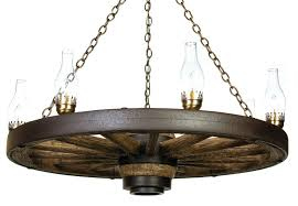 42 lantern reion cast wagon wheel chandelier