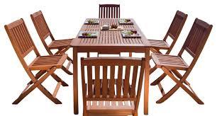 balthazar rectangular table folding chair outdoor wood dining set
