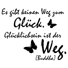 Wandtattoo Zitat Buddha Glücklich Sein Ist Der Weg