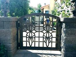 used wrought iron gates metal garden gates for backyard r used cast iron wrought aluminum
