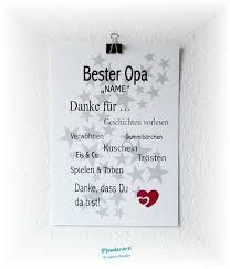 Wanddeko Bild Bester Opa Name Druck A4 Ein Designerstück Von