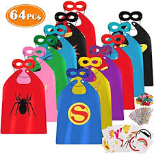 Lorfancy 64pcs <b>Kids</b> Superhero Capes <b>Boys Halloween Costumes</b> ...