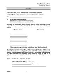 Bid Form For Construction Butler Tech Construction Bid Form Rml051218 Butler Tech