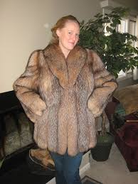 good time with crystal fox fur jacket