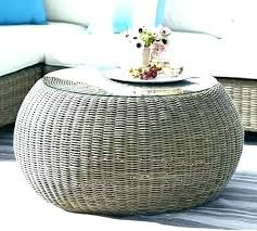 round rattan coffee table. Round Wicker Coffee Table With Storage Concentric Rattan