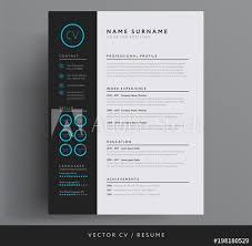 Stylish Cv Resume Template Blue And Dark Gray Backgound