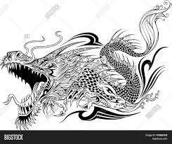 Dragon Doodle Sketch Vector Photo Free Trial Bigstock
