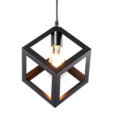 for homiforce vintage style 1 light black mini pendant light with metal shade in matte black finish modern industrial edison style hanging