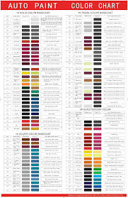 color chart hot item free auto paint color chart for high quality china paint