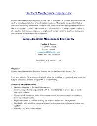 Mechanical Maintenance Engineer Resume Format It Coverpleples