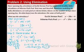 9 8 systems of linear and quadratic equations