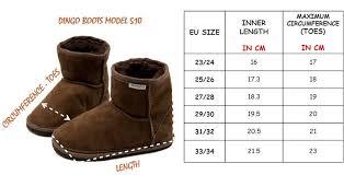 Dingo Boots Size Chart Dingo Girs Boots
