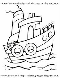 Small Picture Coloring Page For Kids Transportation Surprising Boats And Ships