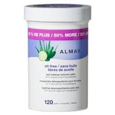 almay oil free gentle eye makeup remover pads 120ct