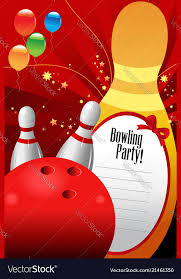 Bowling Party Invitation Bowling Party Invitation Template Royalty Free Vector Image