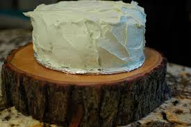 wood slab source description tree slice cake stand