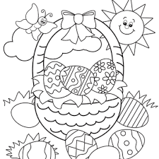 Easter Coloring Page Easter Basket easter coloring pages, free easter coloring pages for kids on easter coloring pages for kids