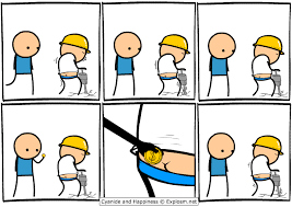 Cyanide And Happiness Vending Machine Simple Keeping The Jackhammer Construction Worker Working In Comic By
