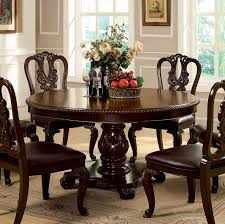 wooden dining furniture. Brown Round Dining Table Best Of Cherry Wood In Wonderful Flossy Bellagio Cmrt Wooden Furniture