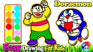 Here you can print black and white pictures for free. Draw Doraemon Nobita S Father Coloring Learn Colors Painting For Todd Abc Coloring Pages Easy Drawings For Kids Christmas Coloring Books
