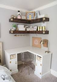 Best 25+ Corner desk ideas on Pinterest | Diy spare room ideas, Diy desk to  vanity and Corner shelves