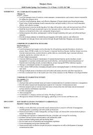 Examples Of Marketing Resumes Corporate Marketing Resume Samples Velvet Jobs